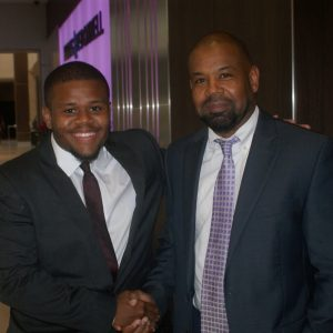Jonathan Burton (Scholarship Recipient) & Mr Burton